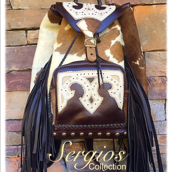 Sergios Collection Handbags - Cowhide Backpack, words can't describe this one